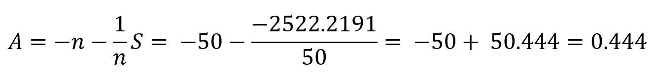 Anderson Darling Test Statistic